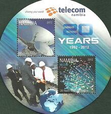 Namibia - 20 años nampost y telecom bloque 80 post frescos 2012 mié. 1421-1422