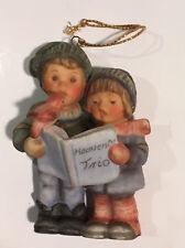 1997 Berta Hummel Christmas Ornament Heavenly Trio Boy Girl Carolers