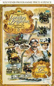 London to Brighton Commemoration Run,Royal Automobile Club, Programmes 1961-1991