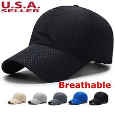 192e8e7012f Men Women Summer Golf Mesh Hat Breathable Curved Visor Casual Baseball Cap  Plain