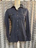 Banana Republic Soft Wash Denim Shirt Button Up Blue Women's Size Small
