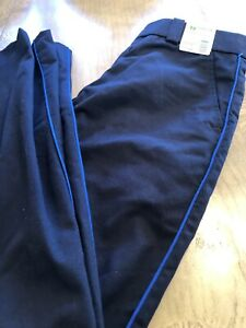 NEW Mens 32x30 Black W Blue Stripe HORACE SMALL Police Dress Uniform Trouser