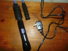 Conair 2-in-1 Hot Air Curling Combo black purple Brush and comb attachments