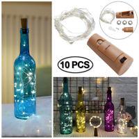 10X 20 LEDs  Flaschenlicht LED Weinflasche Lichter Nacht Lichterkette Warmweiß