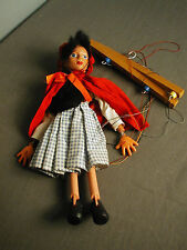VINTAGE PELHAM PUPPET RED RIDING HOOD  COMPOSITION HEAD PLASTIC LIMBS - ENGLAND