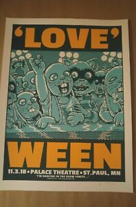Rare WEEN Print AP Jermaine Rogers St PAUL Gig Poster Night 1 BUNNY Raccoon