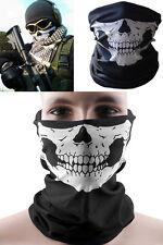 Unisex Skull Bandana Skeleton Motorcycle Paintball Scarf Pretend Half Face Mask