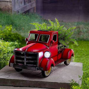 Tabletop Resin Craft Flower Pot Indoor Simulation Truck Succulent Planter