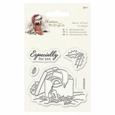 Noël Wellington (Docrafts) - Mini clair timbre 75 x 75mm-présent (4pcs)
