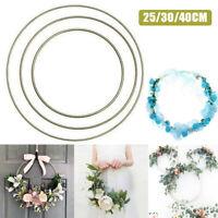 Metal Floral Hoop Frame Flower Rings Hanging Wreath Vine Wedding Party Decor