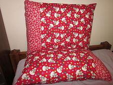 Christmas snowman pattern 100% new Cotton handmade Pillowcase one pair