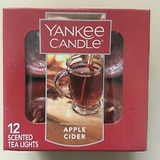 YANKEE CANDLE ~ PACK OF 12 SCENTED  TEA LIGHTS ~ APPLE CIDER