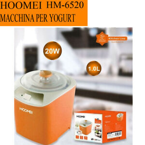 Macchina Per Yogurt HOOMEI HM-6520 Capienza 1L Potenza 20W Per Aiuto Casa