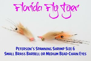 Petersons Spawning Shrimp Bonefish (4 Flies) Size 6 - Gamakatsu SL11-3H Hooks!