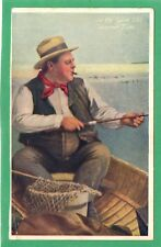 IN THE GOOD OLD SUMMER TIME * MAN FISHING IN A BOAT, SMOKING A CIGAR  * D29