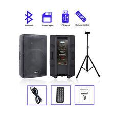 "STARAUDIO 15"" 4000W DJ Powered Active PA Speaker System PA Stage Speaker Stand"