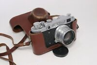 Vintage FED 2 Type A Rangefinder Camera Russian SLR 35mm Film w/ f2 50mm Lens
