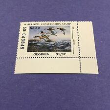 1991 Georgia State Duck Stamp, Mint Og/Nh.