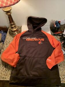 Cleveland Browns Reebok Hoodie Sweatshirt Youth Size M (10/12) Embroidered New