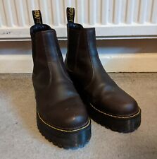 Dr Martens Size 6 Rometty Leather Chelsea Boots Pull On Dark Brown