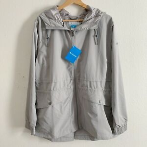 NEW Columbia Day Trippin' Jacket Rain Water Resistant Flint Grey Womens Size XL