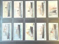 1924 Wills SHIPS BOATS SHIP WORLD Tobacco cigarette cards complete 50 card set