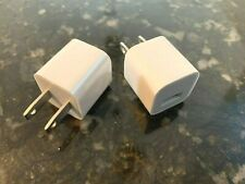 Lot Of 2 - Oem For Apple iPhone 5W Usb Wall Charger Cube Power Adapter Plug
