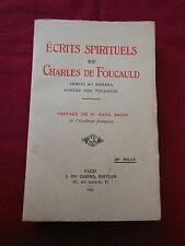 ECRITS SPIRITUELS de Charles de FOUCAULD - J. de GIGORD - 1925