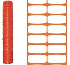 Rete per recinzione cantieri arancio rotolo 50 mt h cm 100