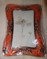 Taylor Avedon collectible Enamel Photo Picture Frame orange new + box