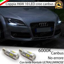 LAMPADE DI POSIZIONE 10 LED H6W CANBUS PER AUDI TT 8J 6000K NO AVARIA LUCI