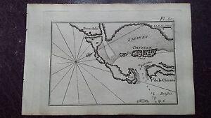 """1780 Roux Meucci Portolano Mappa Nautica Porto Chioggia """"Pl.80 Brondolo Chiozza"""""""