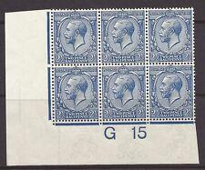 N21 (3) C 2 ½ D francés Azul Royal Cypher Wmk Rev Control G 15 rpscert Menta desmontado