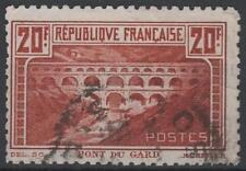 "FRANCE STAMP TIMBRE N°262B ""PONT DU GARD 20F DENTELE 11 "" OBLITERE A VOIR  M318"