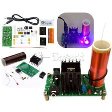 Mini Tesla Coil Plasma Speaker Electronic Music 15W 15V-24V Finished/ DIY DC 12V