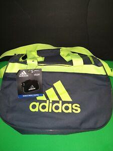 Adidas small gym, travel Duffel bag grey, lime