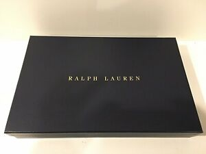 "Ralph Lauren Large Empty Gift Box & Tissue 15.5"" x 10"" x 2.5"" - Very Thick"
