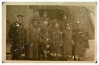 Antique WW1 military RPPC postcard Army Service Corps Mechanical Transport