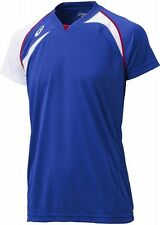 ASICS JAPAN Volleyball Game Training T-shirt Jersey XW1318 Blue White