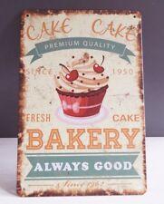 Fresh Cake Bakery Food Retro Tin Signs Metal Plate Kitchen Wall Decor Poster