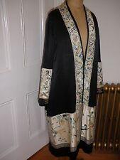Années 1920 vintage satin de soie brodé OPERA Coat