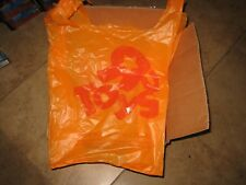 TOYS R US BOX OF 1000 ORANGE BAGS FULL BOX CASE  23X13 MEDIUM BABIES GEOFFREY