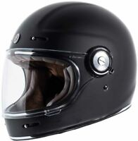 Torc T1 Helmet Flat Black Retro Vintage Style Full Face DOT XS-2XL