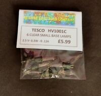 TESCO HV1001C 2.5V 0.3W 0.12A 6 PACK CLEAR SPARE BULBS - SMALL BASE (0253)