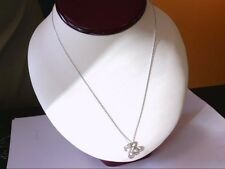 "Nicely Pre Owned  14K WG Open Heart 20"" Necklace w/ 1/4 ct tw Diamond Pendant."