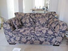 2 seater sofa very good condition brown with leaf pattern