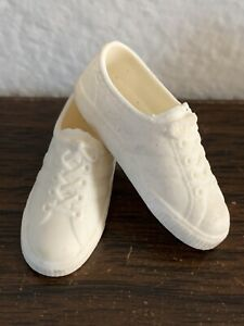 Vintage Barbie Ken Doll Sneakers Tennis Shoes White Rubber Shoes