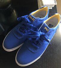 POLO RALPH LAUREN Men's shoes Hanford Canvas Blue Size:12D EUC