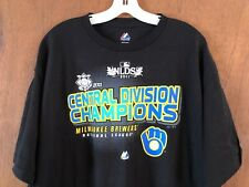 Milwaukee Brewers 2011 Central Division Champs T Shirt XL Majestic NEW TAGS NWT