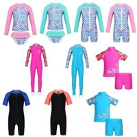 Kids Boys Girls Full Body Swimwear Rash Guard UV Protection Swimming Swimsuit